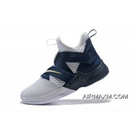 For Sale Nike LeBron Soldier 12 XII SFG White/Midnight Navy-Mineral Yellow Basketball Shoes