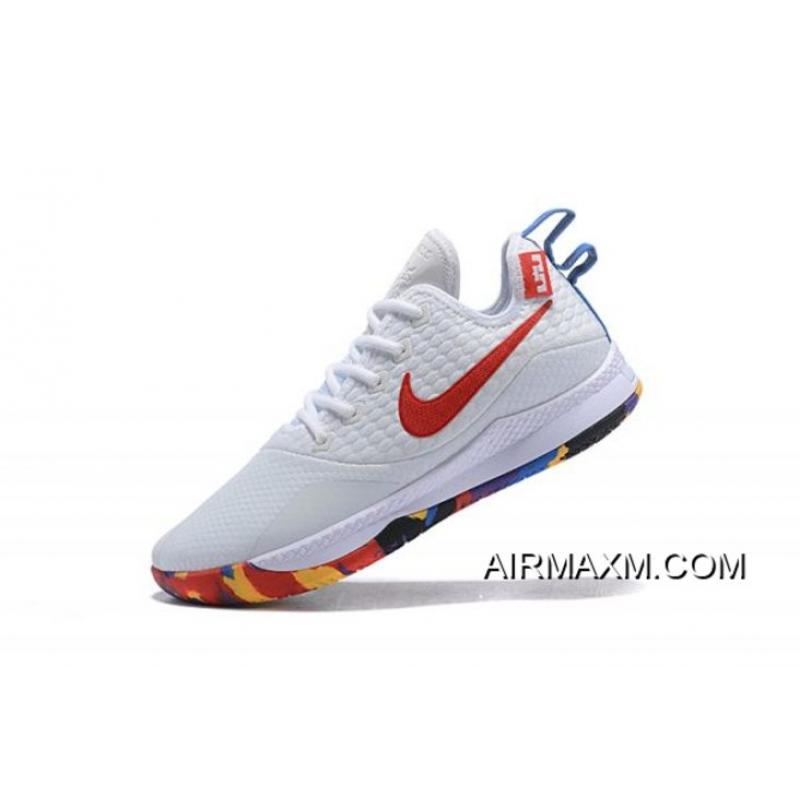 "competitive price 55280 d0408 Super Deals Nike Lebron Witness 3 ""March Madness"" White Multi-Color ..."