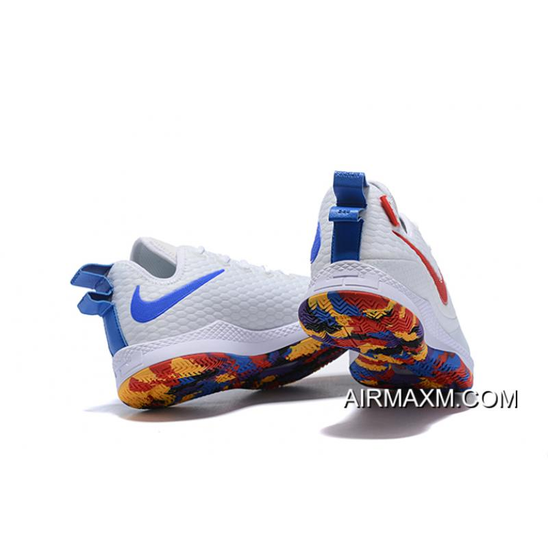 """72b4d9d7dcb9 ... Super Deals Nike Lebron Witness 3 """"March Madness"""" White Multi-Color ..."""