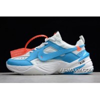 "Women/Men Off-White X Nike M2K Tekno ""UNC"" White/Dark Powder Blue-Cone AO3108-080 Discount"