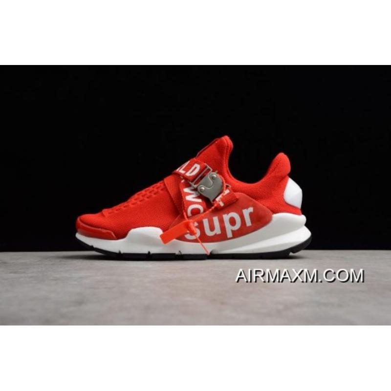 finest selection e814e fae04 New Nike Sock Dart X Supreme White Red Men s And Women s Size Shoes  Authentic ...