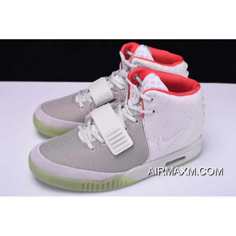 2419590bccc80 Nike Air Yeezy 2 NRG Wolf Grey Pure Platinum 508214-010 On Sale For ...