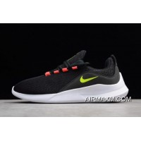 Nike Viale Black/Volt-Solar Red-White AA2181-001 Authentic