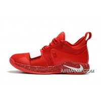 Big Deals Paul George's Nike PG 2.5 University Red/White Basketball Shoes