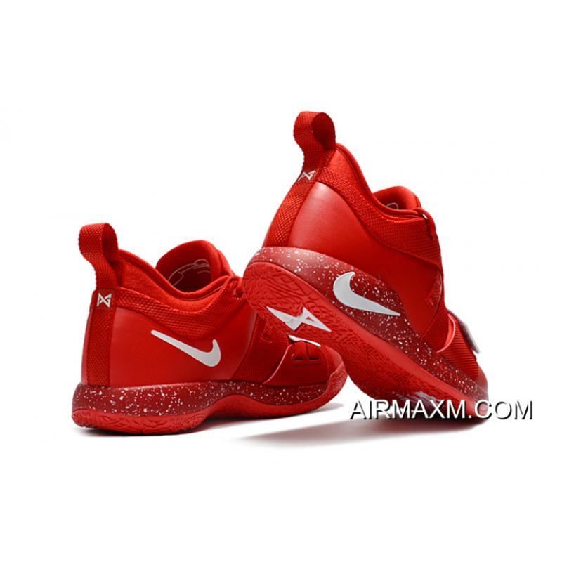 7aff9d723f9 ... Big Deals Paul George s Nike PG 2.5 University Red White Basketball  Shoes ...