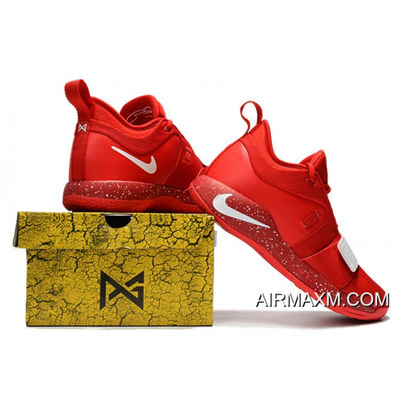 2e60e511520f ... Big Deals Paul George s Nike PG 2.5 University Red White Basketball  Shoes ...