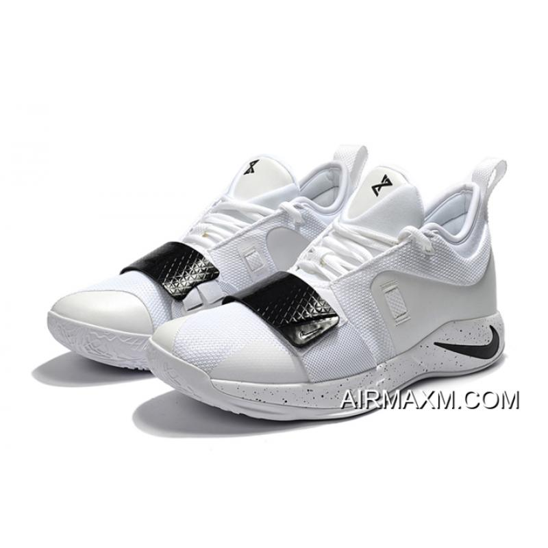 ... New Year Deals Nike PG 2.5 White Black Paul George Basketball Shoes ... a7d34dc7b