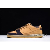 "Free Shipping Nike SB Dunk Low ""Lewis Marnell"" Cappuccino/Wheat-Bronze Free Shipping"