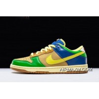 "Free Shipping Men's And Women's Nike Dunk Low Premium SB ""Brooklyn Projects"" Halo Zitron 313170-771"