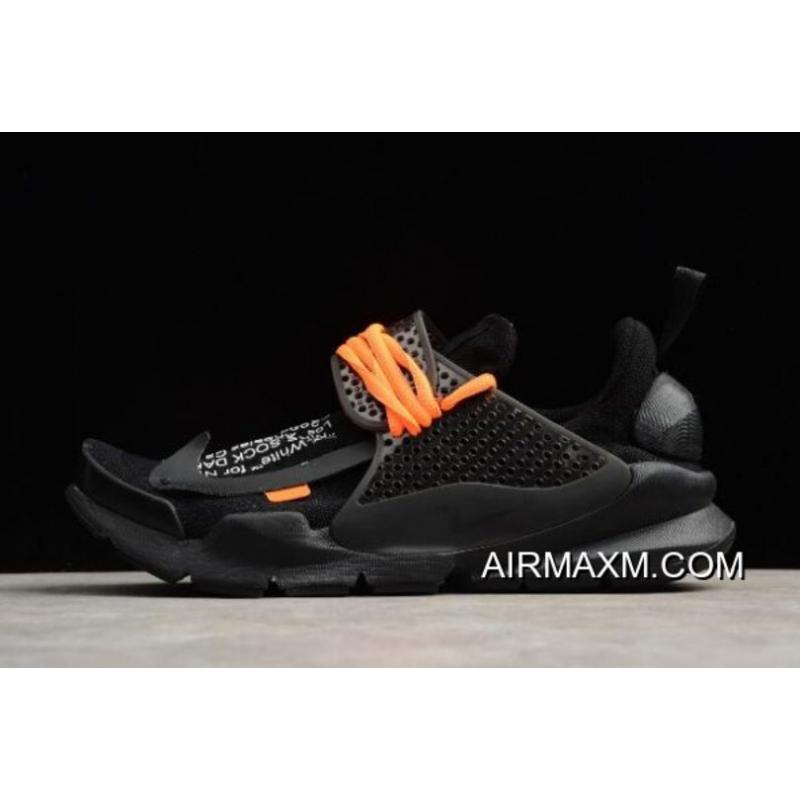 new style 59be8 b06a9 Outlet Off-White X Nike Sock Dart Black/Black-Volt Men's Size 819686-001