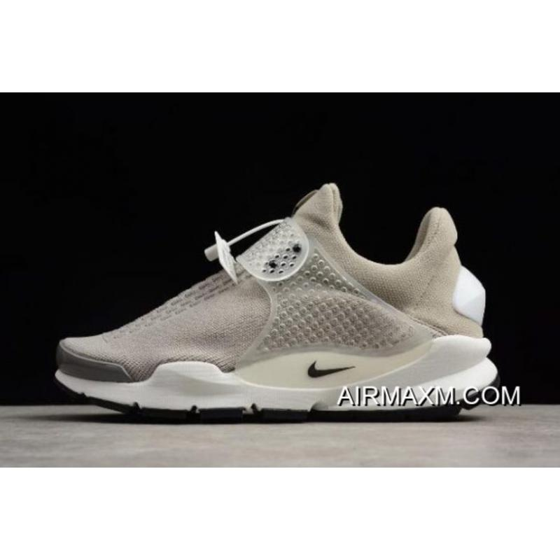 new product 89677 c9e63 Women Men Nike Sock Dart KJCRD Medium Grey Black-White 819686-002 ...