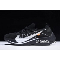 Women/Men Off-White X Nike Vapor Street Flyknit Black/Anthracite-White AQ1763-001 For Sale