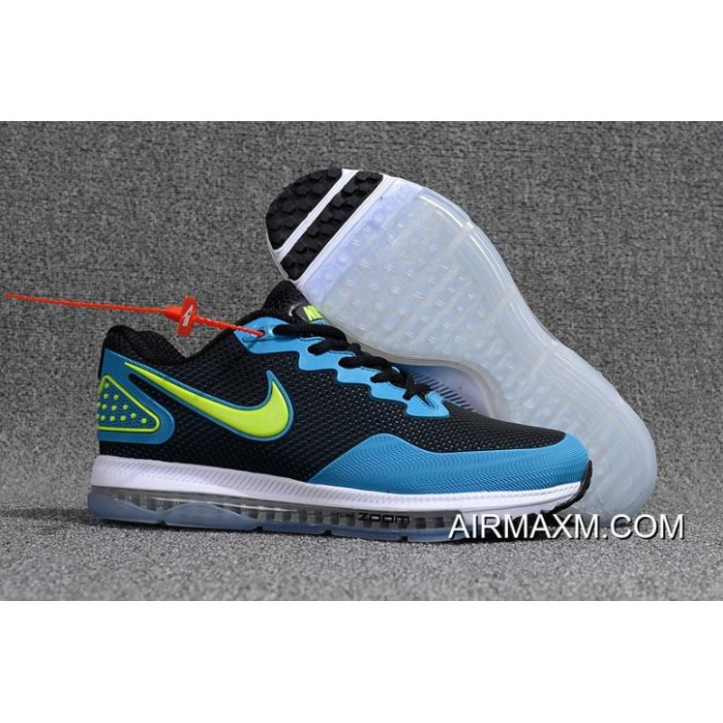hot sales f63cf 4d6fa Nike Zoom All Out Low Sky Blue Black Light Green White Super Deals ...