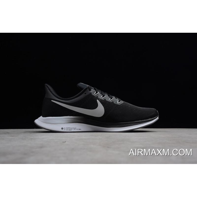 sports shoes cfc13 818c9 ... Women Men Nike Air Zoom Pegasus 35 Turbo Black Vast Grey-Oil Grey ...
