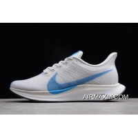 Nike Zoom Pegasus 35 Turbo White/Blue Hero-Vast Grey AJ4114-140 Free Shipping