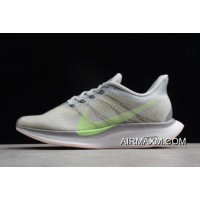 Women/Men Nike Air Zoom Pegasus 35 Turbo 2.0 Light Grey/Green AJ4115-301 Best