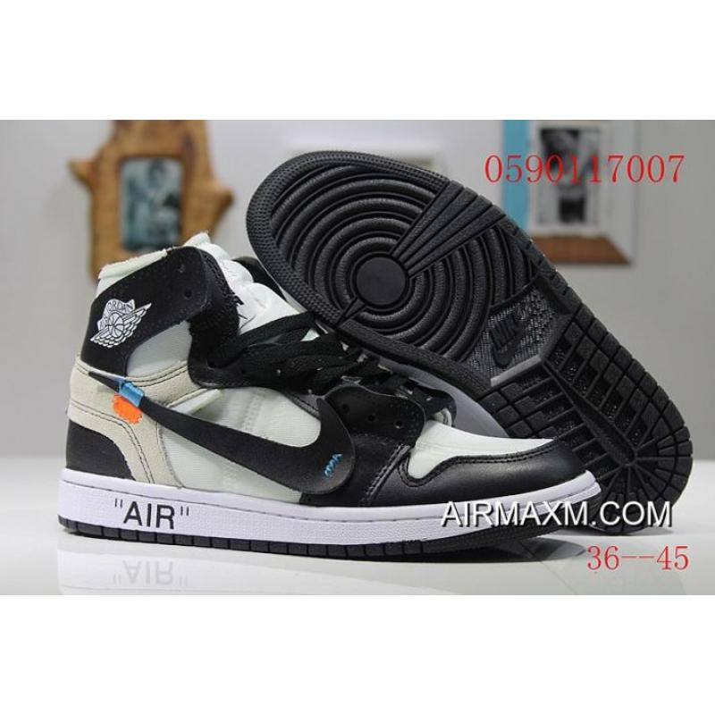 6fa8584e197a71 Men OFF-WHITE X Air Jordan 1 Basketball Shoes SKU 107722-405 New ...