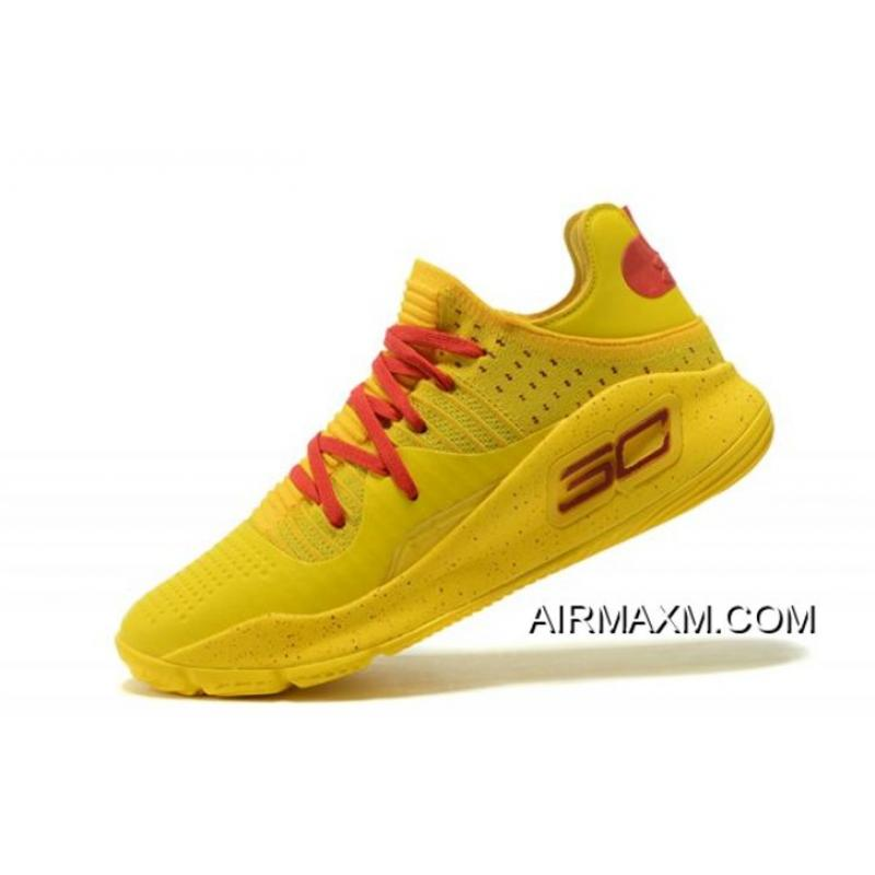 "6239ef970a2e Under Armour Curry 4 Low ""Bruce Lee"" Yellow Red Men s Basketball Shoes New  ..."