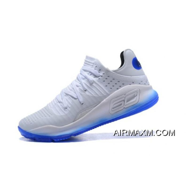 "brand new 7fa88 ab723 Under Armour Curry 4 Low ""All-Star"" White Blue Men's Basketball Shoes Free  Shipping"