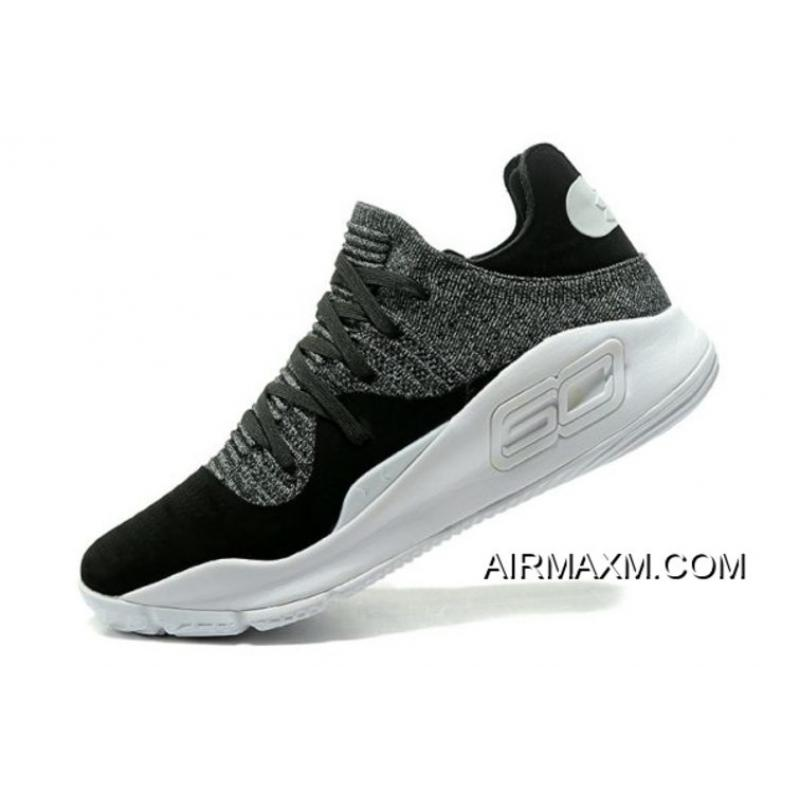 """cd09a56ef69d Under Armour Curry 4 Low """"Oreo"""" Black White Men s Basketball Shoes Top  Deals ..."""