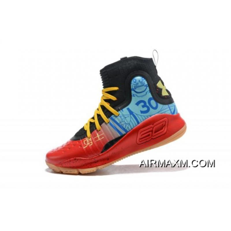 """07a595ee76 Under Armour Curry 4 """"Chinese New Year"""" Custom Edition Men s Basketball  Shoes Online ..."""
