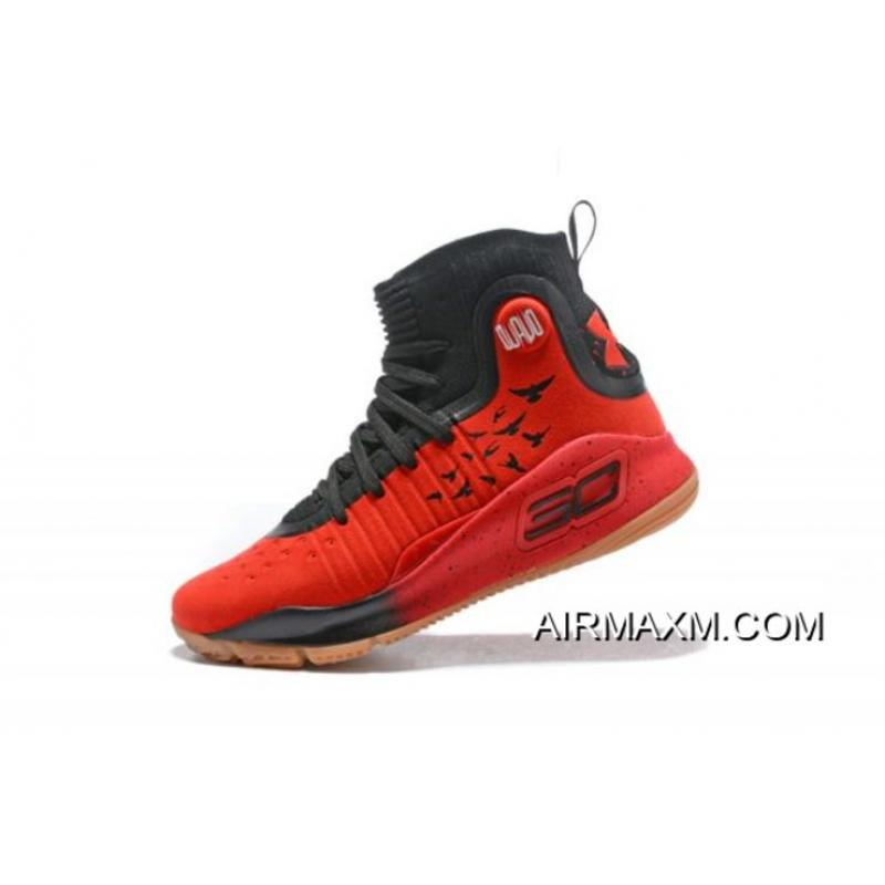 6fe061914513 Under Armour Curry 4 Red Black-Gum Men s Basketball Shoes For Sale ...