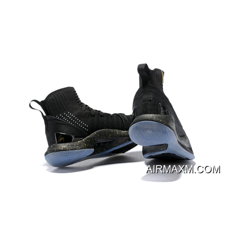 849366ab57f ... Under Armour Curry 5 Black Metallic Gold Men s Basketball Shoes Online  ...
