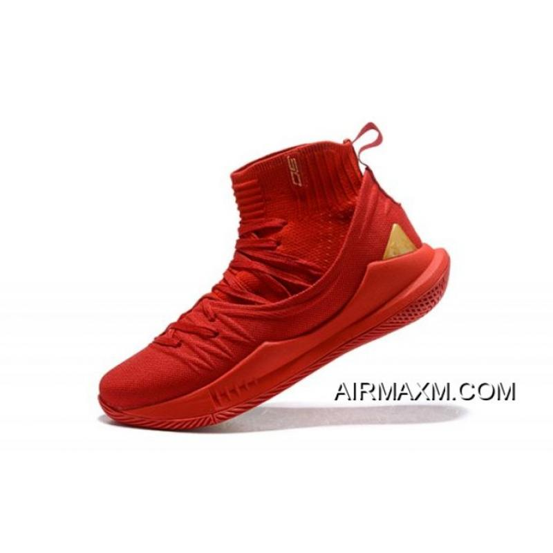 "7b5e63d3e5d7 Under Armour Curry 5 ""Chinese New Year"" Red Gold Men s Basketball Shoes New  Release ..."