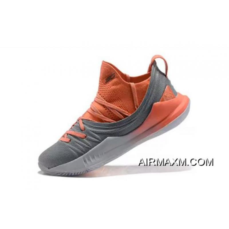 1384581034f Stephen Curry s Under Armour Curry 5 Low-Top Orange Grey Basketball Shoes  Best ...