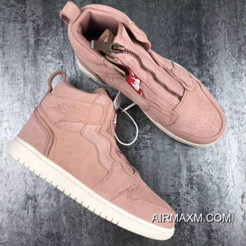 separation shoes eaf1e 9db34 Women Air Jordan 1 High Zip Particle Beige Sneakers SKU 3566-371 Free  Shipping ...