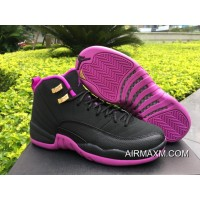 Women Air Jordan 12 GS Hyper Violet Outlet