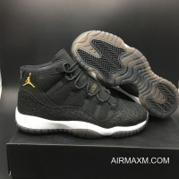 For Sale Women Air Jordan 11 GS Black And Gold