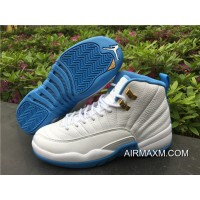 Women Air Jordan 12 GS University Blue Authentic