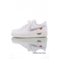 Free Shipping Women OFF-WHITE X Nike Air Force 1 Sneaker SKU:110352-374