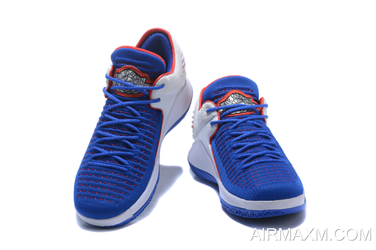 """e82e9bab11a153 New Air Jordan 32 XXXII Low """"Andre Drummond"""" PE Royal White Red New Year  Deals"""