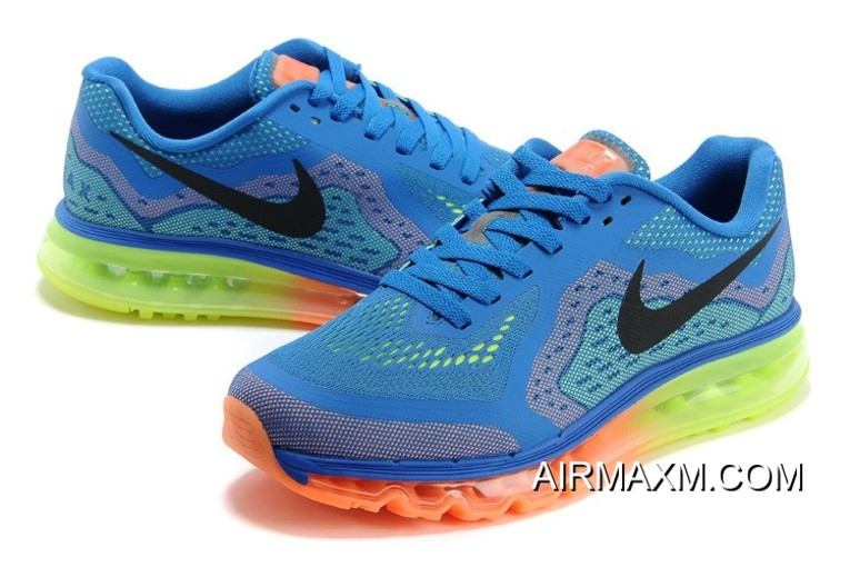 huge selection of e2afd a07a9 Nike Air Max 2014 Blue Orange Green Black Top Deals