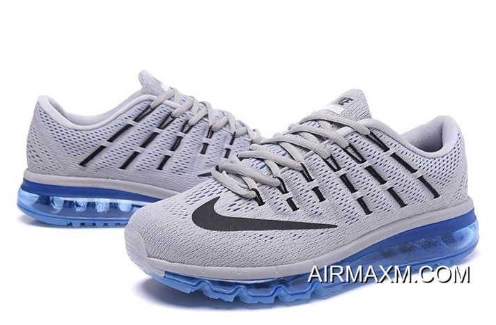 Top Deals Nike Air Max 2016 Grey Black Blue For Men