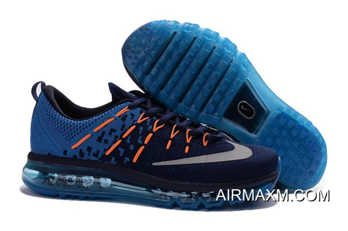 watch 24c42 cb40d Top Deals Nike Air Max 2016 Royal Blue Orange Black For Men