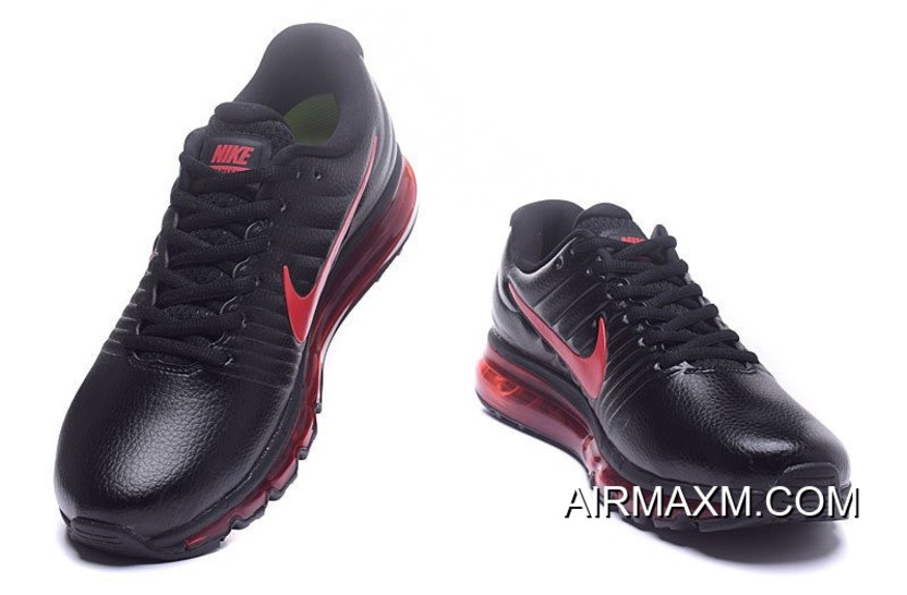 Discount Nike Air Max 2017 Leather Red Black 000c714e0d
