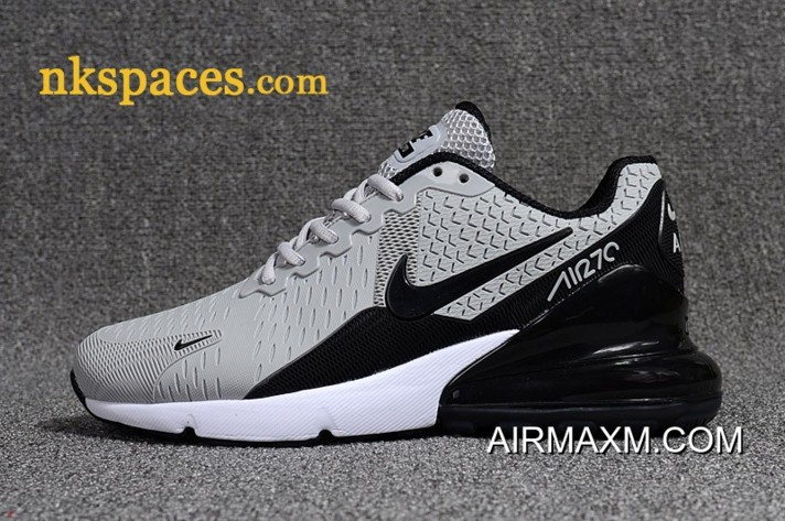 new style ad369 f422b New Release Nike Air Max 270 Men Light Grey Black White