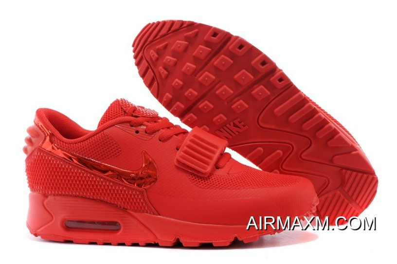 Free Shipping Nike Air Max 90 Air Yeezy 2 SP All Red 14e168462