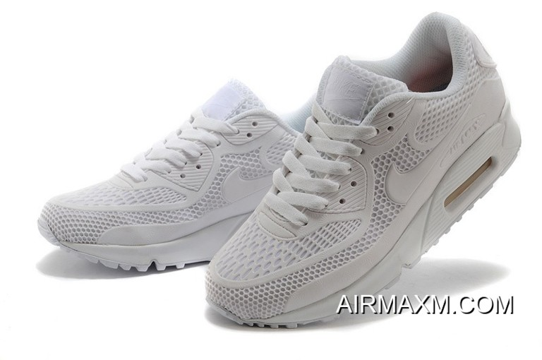 New Style Nike Air Max 90 Essential All White Men Women