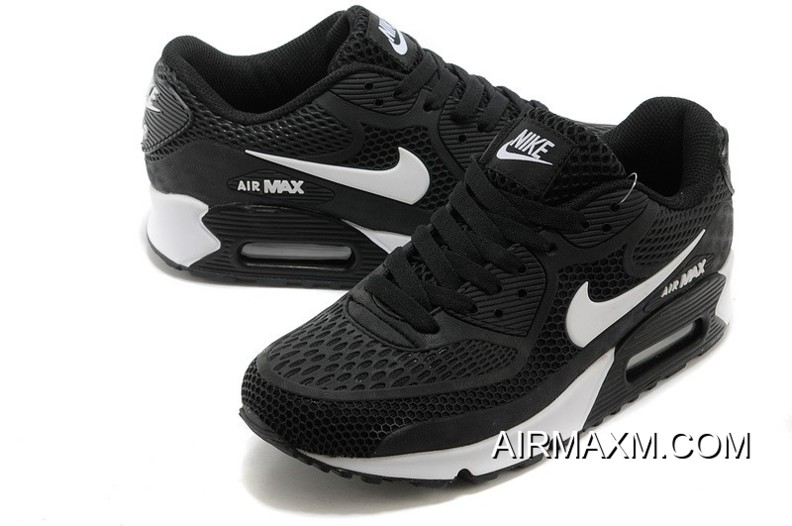 86feafb593 Outlet Nike Air Max 90 Essential Black And White Men Women, Price ...