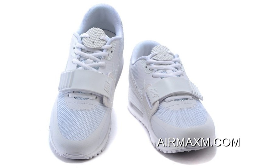 Nike Air Max 90 Air Yeezy 2 SP All White Women Latest