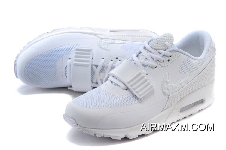 cute cheap finest selection new concept Nike Air Max 90 Air Yeezy 2 SP All White Women Latest, Price ...