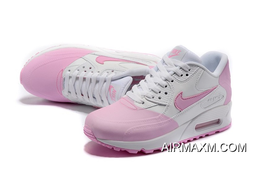 new products f5dbe 6d4b7 Women Nike Air Max 90 Premium SE Pink White Buy Now