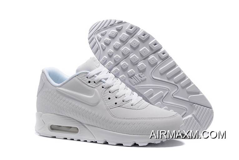 Women Nike Air Max 90 Woven All White Authentic 45028c682