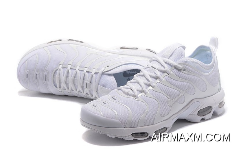 Nike Air Max Plus TN All White Women Big Discount