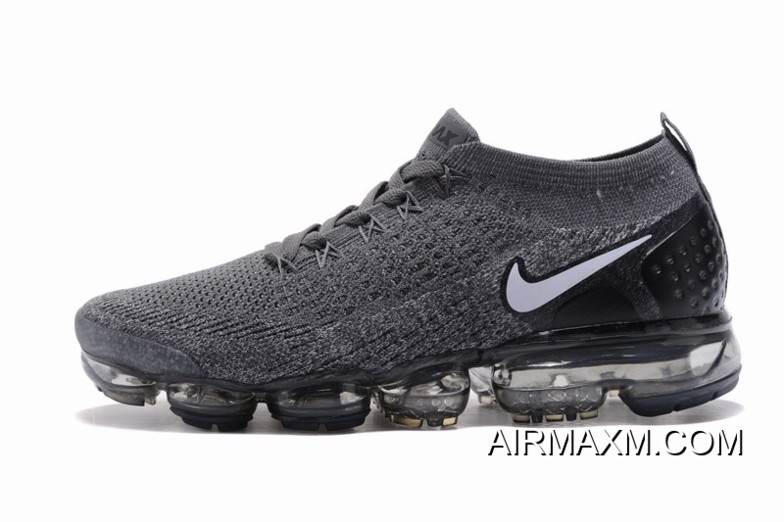 check out 950c7 0b2b7 Nike Air VaporMax Flyknit 2 Dark Gray White Outlet