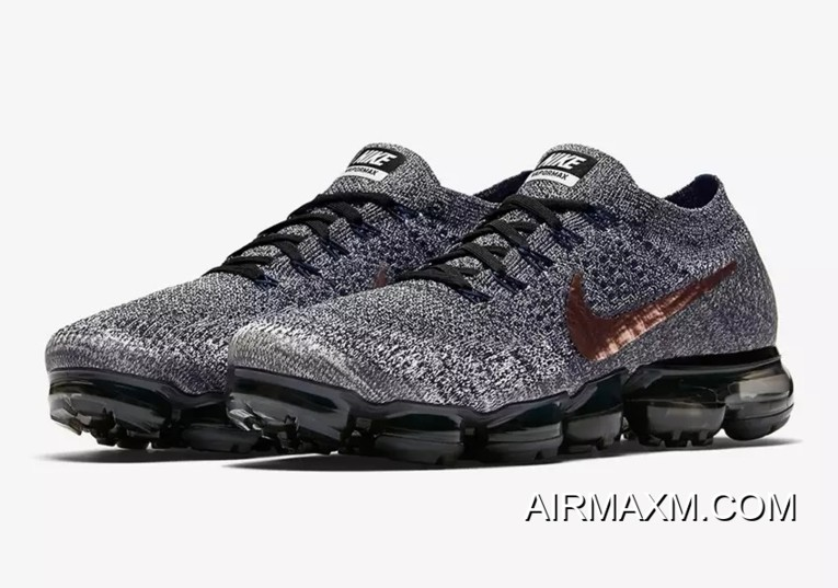 sale retailer ac614 13334 Nike VaporMax Flyknit Black Grey Copper Best